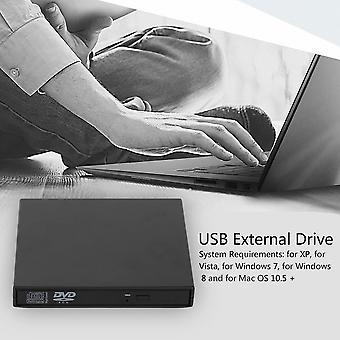 Ultral Thin Usb 2.0 Load Optical Cd Rw Player Drive Burner For Pc/mac