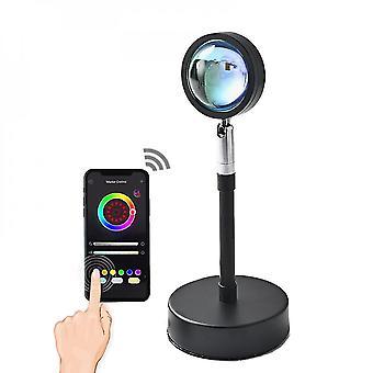 16 couleurs Sunset Lamp Rgb App Télécommande Atmosphère Projection Led Night Light Pour La Décoration de Chambre à Coucher