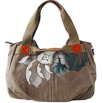 Handmålade blommor Messenger Väska