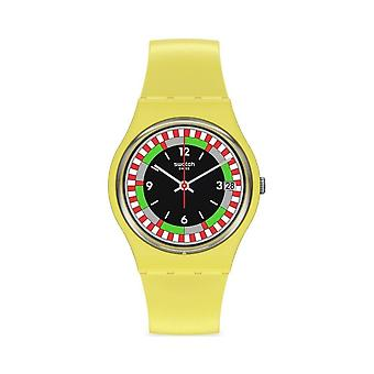 Reloj Swatch So31j400 Yel_race Yellow Silicone