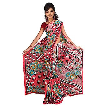 Avni Georgette Printed Casual Saree Sari Bellydance fabric