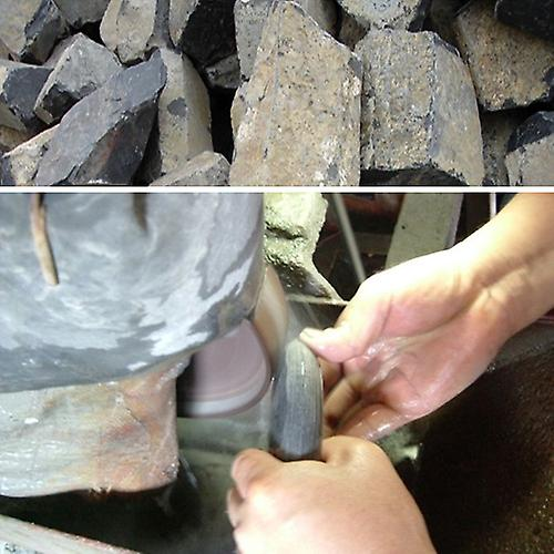 16pc ansiktsmassasje Basalt stein satt w/fløyel Reiseetui