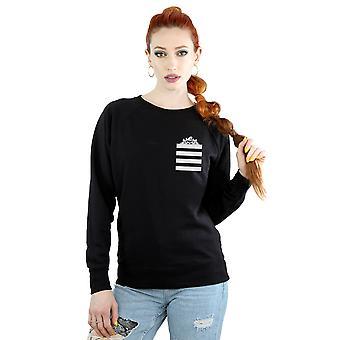 Looney Tunes Women's Taz Stripes Faux Pocket Sweatshirt