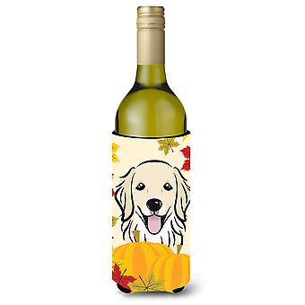 Golden Retriever garrafa de vinho de ação de Graças bebidas isolador Hugger