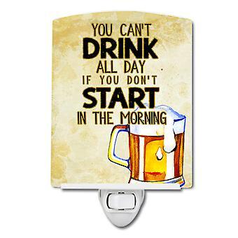 Start Drinking in the Morning Beer Ceramic Night Light