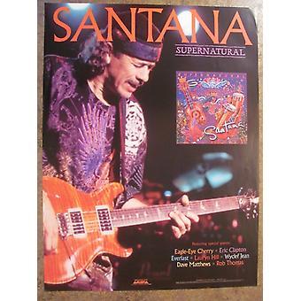 Carlos Santana Supernatural Poster