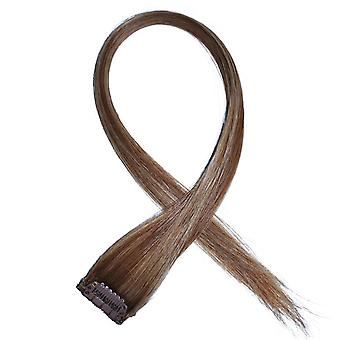 #8/18 Light Brunette Golden Blonde Highlights - Clip-in Hair Streaks
