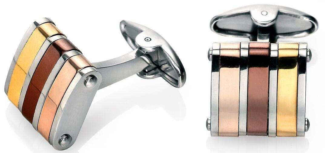 Stainless Steel Rose Gold Plated And Copper Cufflink
