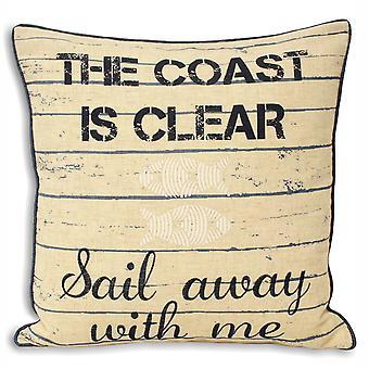 Рива дома пейзаж побережья является ясно подушку обложки