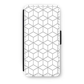 iPhone 6/6 s Plus Case Flip - Cubes noir et blanc