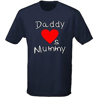 Daddy Loves Mummy Valentines Kids Unisex T-Shirt 8 Colours (XS-XL) by swagwear