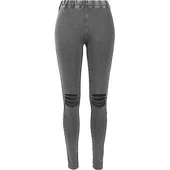 Urban Classics dámy-brúsené kolená, drevené uhlie