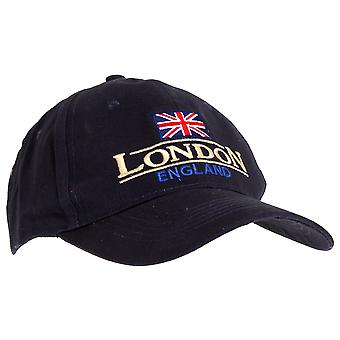 Unisex blu Navy Londra Inghilterra Union Flag Cap