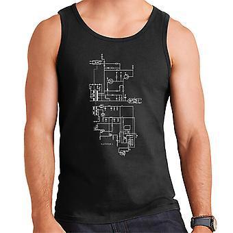 PlayStation 1 Computer Schematic Men's Vest