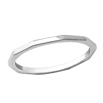 Facetten - 925 Sterling Zilver platte ringen - W36217x
