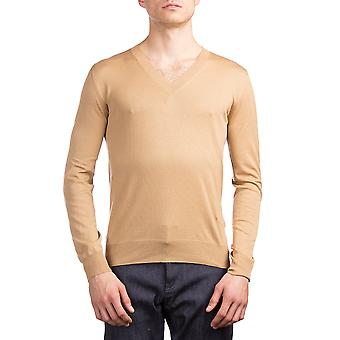 Prada menns Silk bomull hals genser Brown