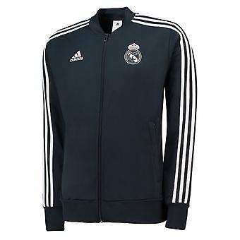 2018-2019 Real Madrid Adidas Knitted Presentation Jacket (Dark Grey) - Kids