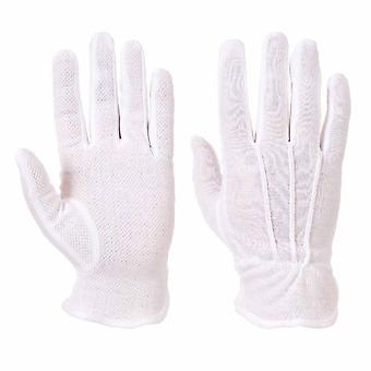 sUw - Mens All Purpose Cotton Terry Microdot Grip Gloves (6 Pair Pack)