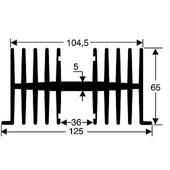 Fischer elektronik SK 34 75 SA fin køle vask 1,1 K/W (L x b x H) 75 x 125 x 65 mm