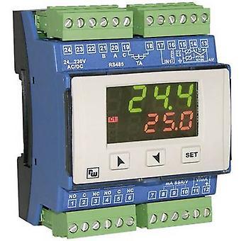 Wachendorff URDR0001 PID Temperature controller K, S, R, J, Pt100, Pt500, Pt1000, Ni100, PTC1K, NTC10K 5 A relay, SSR, RS 485 (L x W x H) 64 x 72 x 90 mm