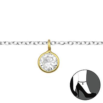 Round - 925 Sterling Silver Anklets - W31119X