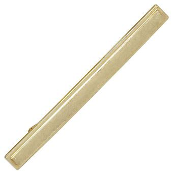 Tie slide, tie clip tie holder 333 gold yellow gold partly ice-frosted