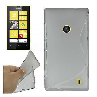 Futerał ochronny case TPU dla mobilnych Nokia Lumia 520 szary