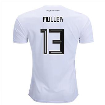 2018-2019 Germany Home Adidas Football Shirt (Muller 13)