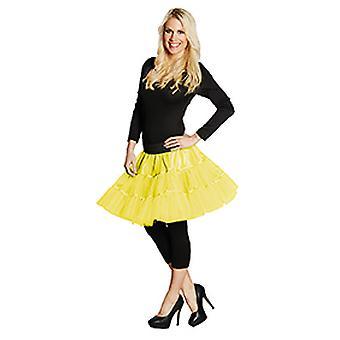 Underkjole kort neon gule damer nederdel kostume karneval
