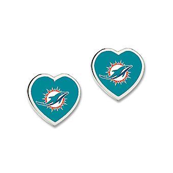 Wincraft dames 3D hart Stud Oorbellen - NFL Miami Dolphins