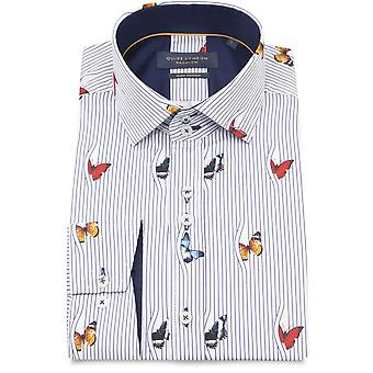 Guide London Butterflies Peeking From Behind The Curtain Mens Shirt