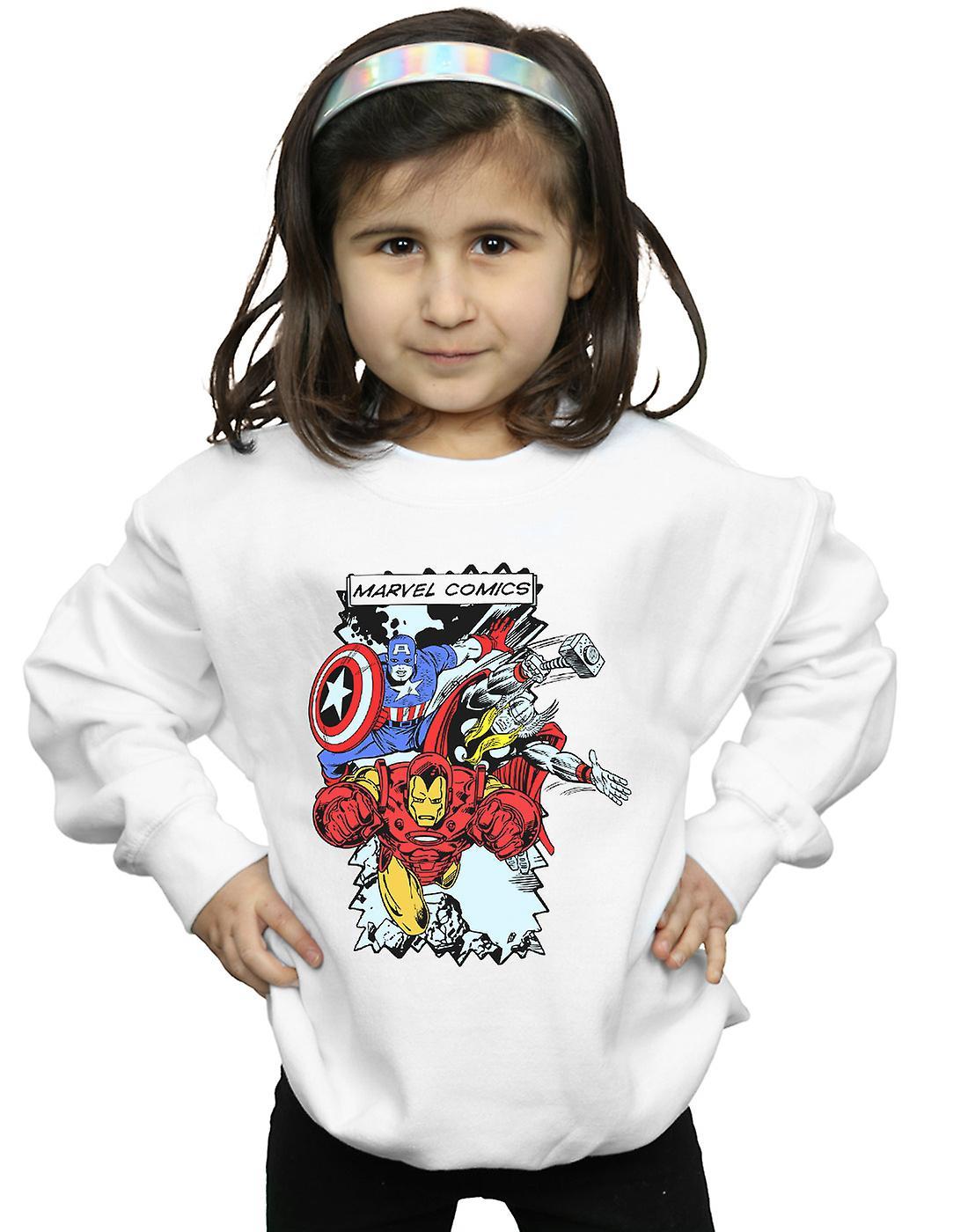Marvel Girls Comic Characters Sweatshirt