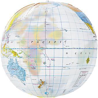 Opsommingsteken Globe strandbal transparant