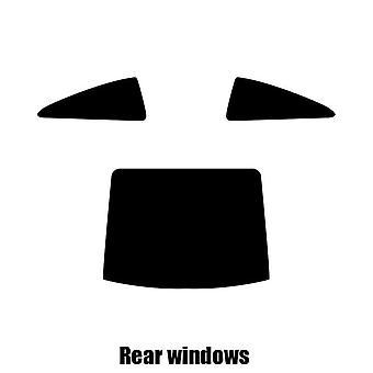 Pre gesneden venster tint - Peugeot 407 Coupe - 2004 tot 2010 - achterzijde windows