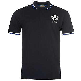 Team Mens Rugby Core Polo Shirt Ribbed Sports Short Sleeve Collar Neck Tee