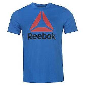 Reebok Mens Stack Delta T Shirt Crew Neck Tee Top Short Sleeve Round Lightweight