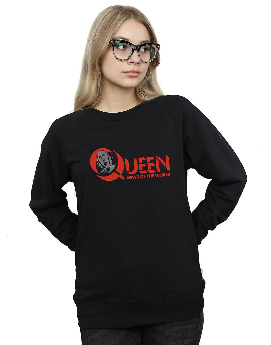 Queen Women's News Of The World Logo Sweatshirt