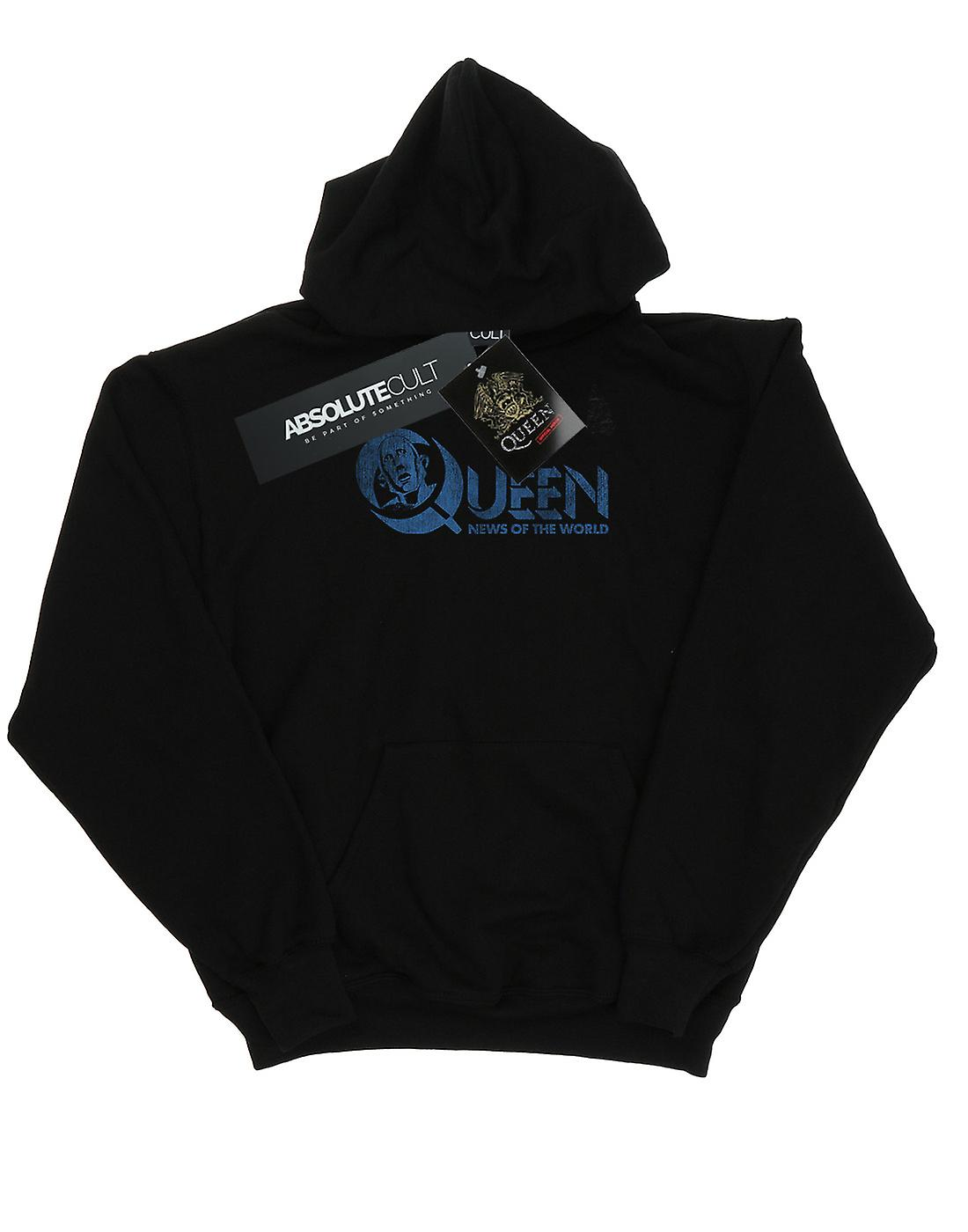 Queen Men's Distressed News Of The World Hoodie