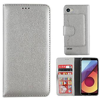 Colorfone Wallet LG Q6 Wallet Case SILVER