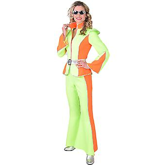 Vrouwen kostuums Disco kostuum voor dames neon