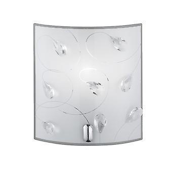 Trio oświetlenie Carbonado nowoczesne Chrome Lampa ścienna metalowa