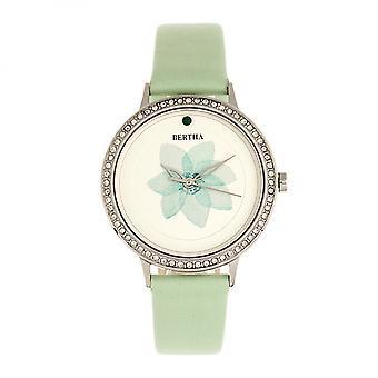 Bertha Delilah lederen-Band Watch - zilver/Mint
