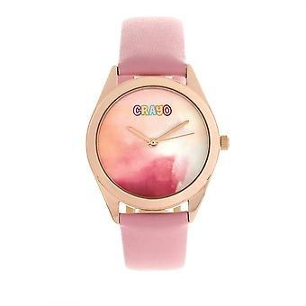 Crayo graffiti unisex Watch-rosa de ouro/rosa claro