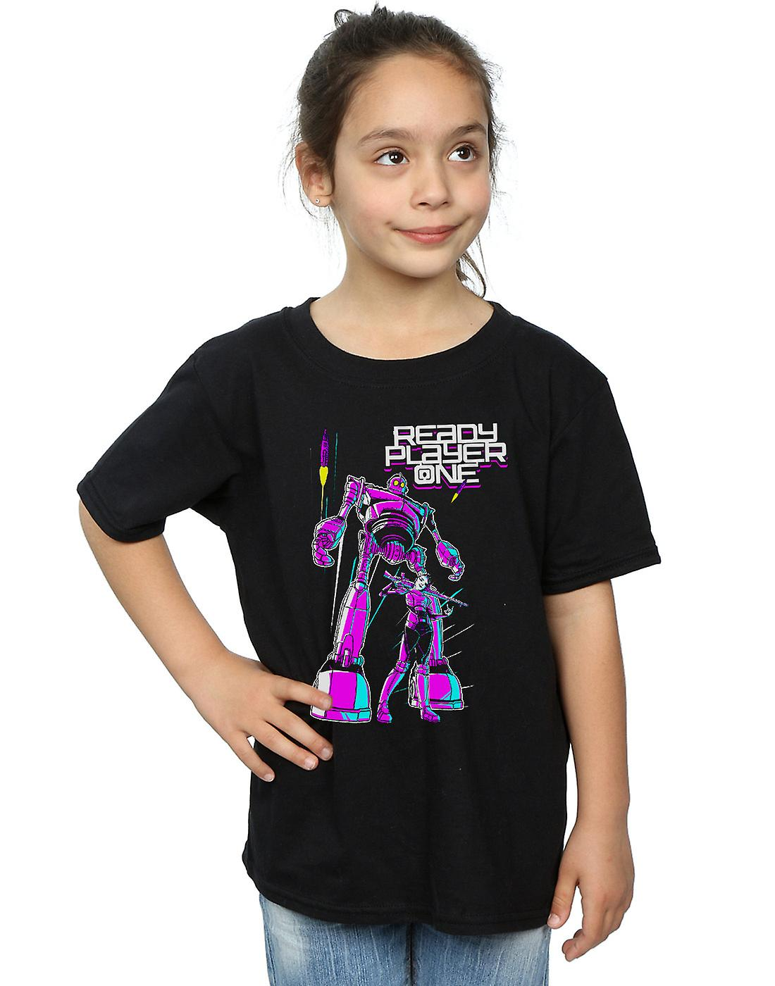 Ready Player One Girls Iron Giant And Art3mis T-Shirt