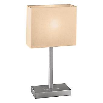 Eglo - Pueblo 1 1 tocco leggero tavolo lampada nichel satinato EG87598