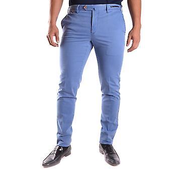 Pt01 Ezbc084030 Men's Blue Cotton Pants