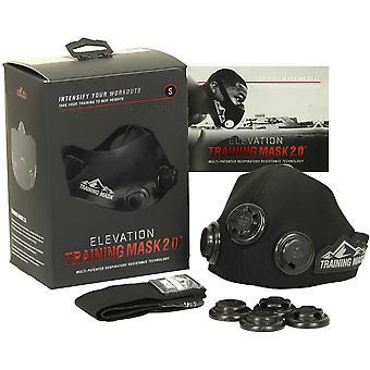 Elevation Training Mask 2.0 Blackout Edition - alle Größen - Lunge Kraftzuwachs