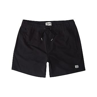 Billabong All Day Layback Elasticated Boardshorts in Black