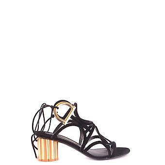 Salvatore Ferragamo Ezbc078005 Women's Black Suede Sandals