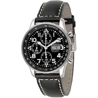 Zeno-relógio mens assistir X-grande piloto cronógrafo-data-P557TVDD-a1